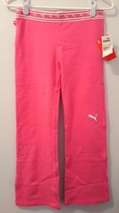 Kids' size large Puma magenta pink yoga pants